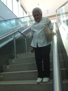 Bajando al metro de Panamá - Plaza 5 de mayo